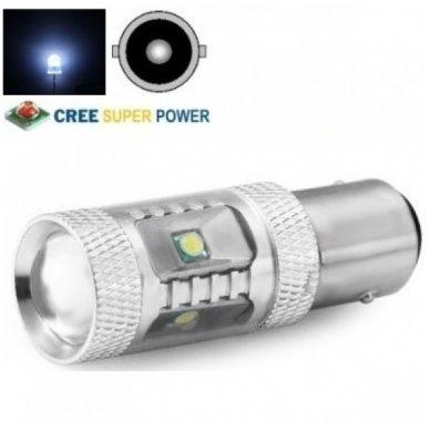 CREE LED P21W / BA15S 12v-24v, 9W - 700 LM galios - aukštos galios LED lemputė