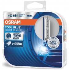 D1S OSRAM XENARC COOL BLUE BOOST 7000K 6140CBB-HCB 35W xenon lempučių komplektas