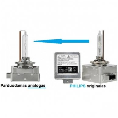 D1S 6000K xenon COOL BLUE PREMIUM lemputė E11 į originalias xenon sistemas 2