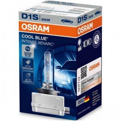 D1S OSRAM XENARC COOL BLUE INTENSE +20%, 6000K 66140CBI, 35W 4008321401472 xenon lemputė