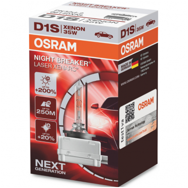 D1S OSRAM XENARC NIGHT BREAKER LASER 35w 66140XNL xenon lemputė