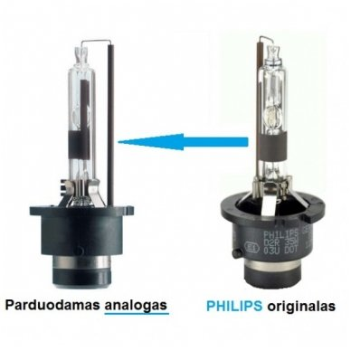 D2R 6000K PREMIUM 35W xenon lemputė į originalias xenon sistemas 2