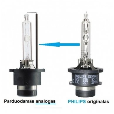 D2S 4300K PREMIUM 35W/85W E11 xenon lemputė į originalias xenon sistemas 2