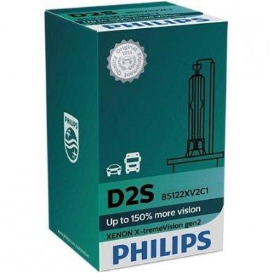 D2S NEW PHILIPS X-TREME VISION +150% GEN2 originali 85122XV2C1, 4800K xenon lemputė