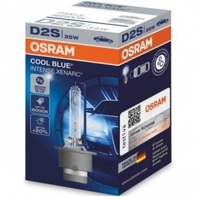 D2S OSRAM XENARC COOL BLUE INTENSE +20%, 6000K 66240CBI, 35W 4008321401359 xenon lemputė