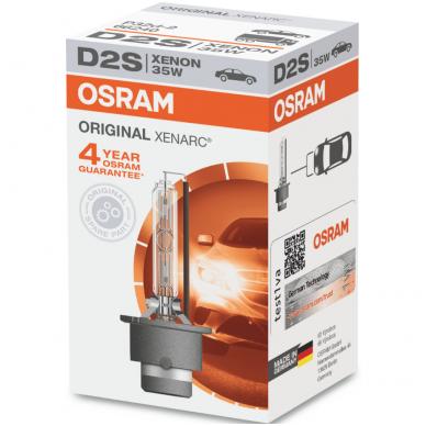D2S OSRAM XENARC ORIGINAL 4 metai garantija 35w 66240 P32d-2 4008321184573 xenon lemputė