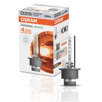 D2S OSRAM XENARC ORIGINAL 4 metai garantija 35w 66240 P32d-2 4008321184573 xenon lemputė 5