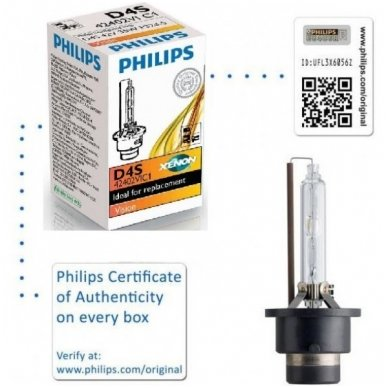 D4S NEW PHILIPS VISION originali 42402VIC1, 4400K xenon lemputė 4