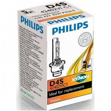 D4S NEW PHILIPS VISION originali 42402VIC1, 4400K xenon lemputė 3
