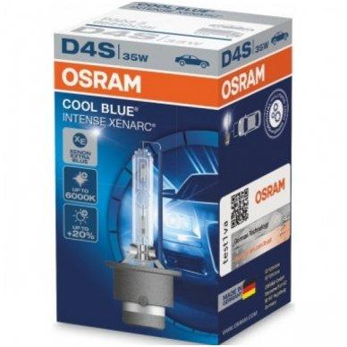 D4S OSRAM XENARC COOL BLUE INTENSE +20%, 6000K 66440CBI, 35W 4052899125582 xenon lemputė