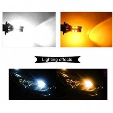 DRL LED CAN-BUS posūkio lemputė dienos žibintas 12v PY21W / BAU15S 3