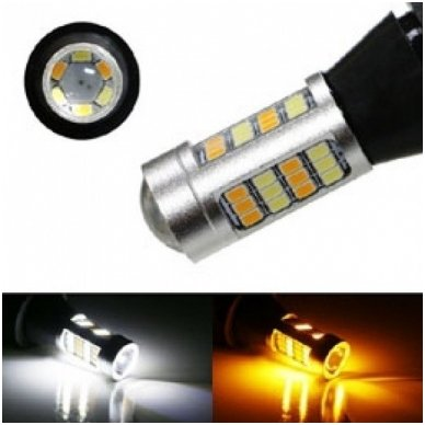 DRL LED CAN-BUS posūkio lemputė dienos žibintas 12v PY21W / BAU15S 2