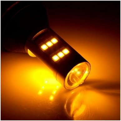 DRL LED CAN-BUS posūkio lemputė dienos žibintas 12v PY21W / BAU15S 4