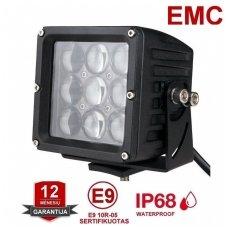 EMC 4D CREE LED darbo žibintas 27W, 10-30V, 9 LED