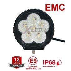 EMC MINI LED plataus švietimo darbo žibintas 18W, 10-32V, 6 LED