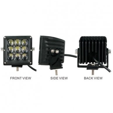 EMC 4D CREE LED darbo žibintas 27W, 10-30V, 9 LED 12