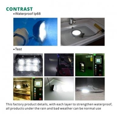 EMC 4D CREE LED darbo žibintas 27W, 10-30V, 9 LED 17