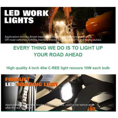 EMC CREE LED darbo žibintas 40W, 10-30V, 4 LED 14