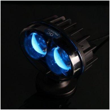 EMC LED mėlynas autokrautuvo saugos - žemės ūkio purkštuvo žibintas 10-30V E13, 10R-04 2