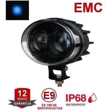 EMC LED mėlynas autokrautuvo saugos - žemės ūkio purkštuvo žibintas 10-30V E13, 10R-04