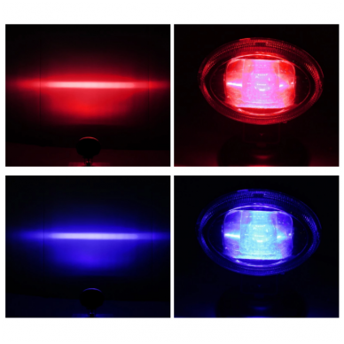 EMC LED mėlynas autokrautuvo saugos žibintas 10-30V CE, 10R-05 8