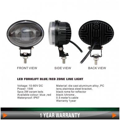 EMC LED raudonas autokrautuvo saugos žibintas 10-80V CE, 10R-05 3