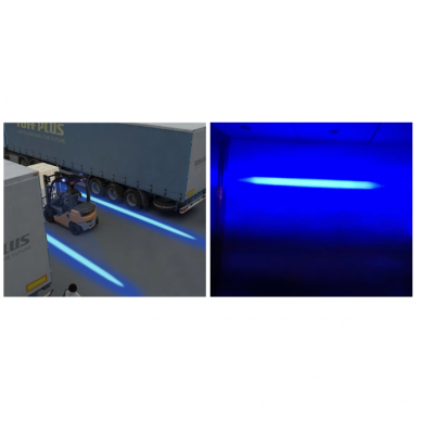 EMC LED mėlynas autokrautuvo saugos žibintas 10-30V CE, 10R-05 4
