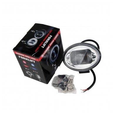 EMC LED mėlynas autokrautuvo saugos žibintas 10-30V CE, 10R-05 7