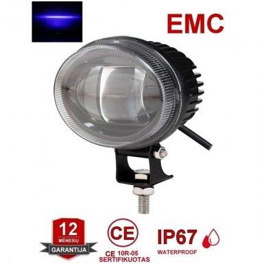 EMC LED mėlynas autokrautuvo saugos žibintas 10-30V CE, 10R-05