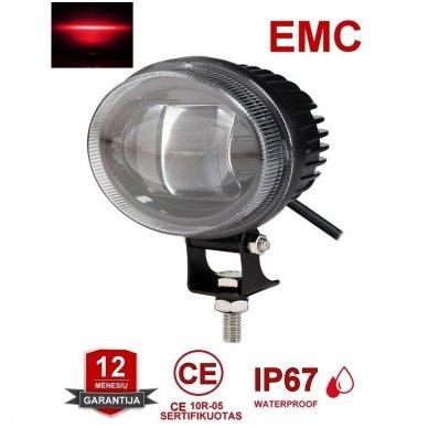EMC LED raudonas autokrautuvo saugos žibintas 10-80V CE, 10R-05