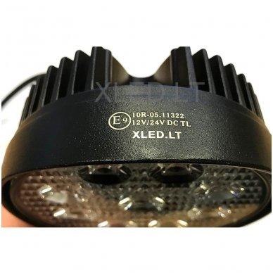 EMC LED plataus švietimo apvalus darbo žibintas 27W, 10-30V, 9 LED 5
