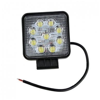 EMC LED plataus švietimo darbo žibintas 27W, 10-30V, 9 LED 7