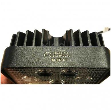 EMC LED plataus švietimo darbo žibintas 27W, 10-30V, 9 LED 6