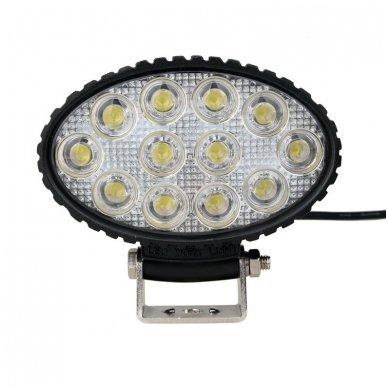 EMC LED plataus švietimo darbo žibintas 36W, 10-30V, 12 LED 10