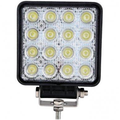 EMC LED plataus švietimo darbo žibintas 48W, 10-30V, 16 LED 4