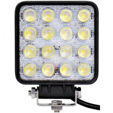 LED plataus švietimo darbo žibintas 48W, 10-30V, 16 LED, 3200LM 3