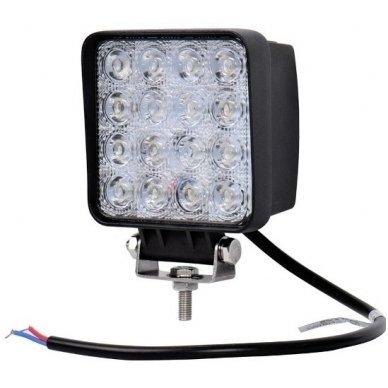 LED siauro švietimo darbo žibintas 48W, 10-30V, 16 LED 3200LM