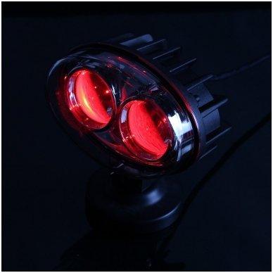 EMC LED raudonas autokrautuvo saugos - žemės ūkio purkštuvo žibintas 10-30V E13, 10R-04 2