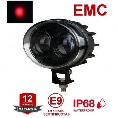 EMC LED raudonas autokrautuvo saugos - žemės ūkio purkštuvo žibintas 10-30V E13, 10R-04