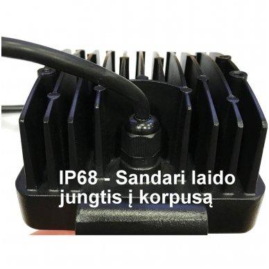 EMC LED siauro švietimo darbo žibintas 48W, 10-30V, 16 LED 3