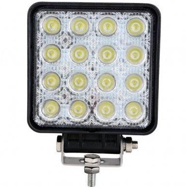 EMC LED siauro švietimo darbo žibintas 48W, 10-30V, 16 LED 4
