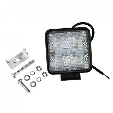 EMC LED SUPER plataus švietimo darbo žibintas 15W, 10-30V, 5 LED 9