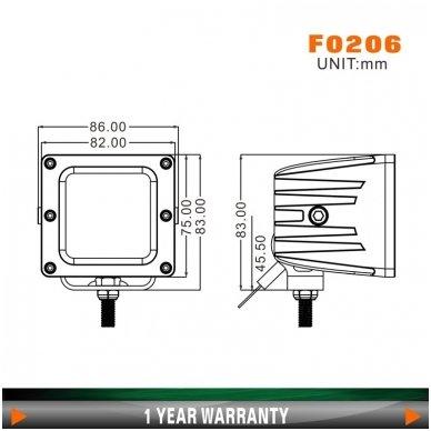 EMC MINI LED darbo žibintas 20W, 10-30V, 4 LED 6