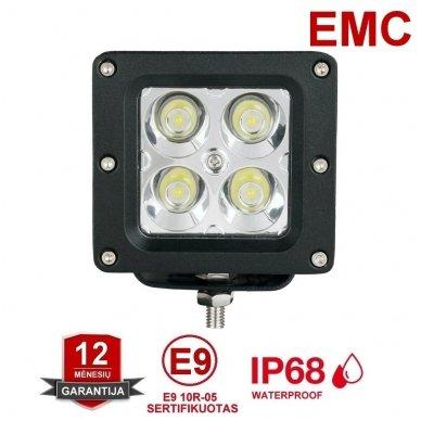 EMC MINI LED darbo žibintas 20W, 10-30V, 4 LED