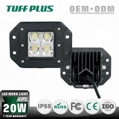 Įleidžiamas MINI LED žibintas plataus švietimo 20W, 10-30V, 4 LED, EMC 4