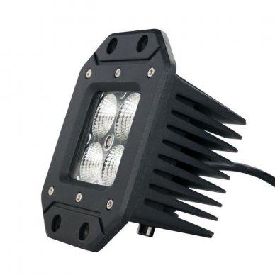 Įleidžiamas MINI LED žibintas plataus švietimo 20W, 10-30V, 4 LED, EMC 3