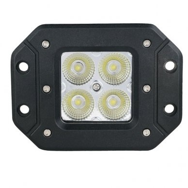 Įleidžiamas MINI LED žibintas plataus švietimo 20W, 10-30V, 4 LED, EMC 5