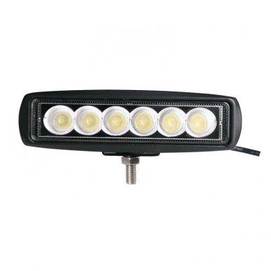 EMC LED plataus švietimo darbo žibintas 18W, 9-32V, 6 LED 7