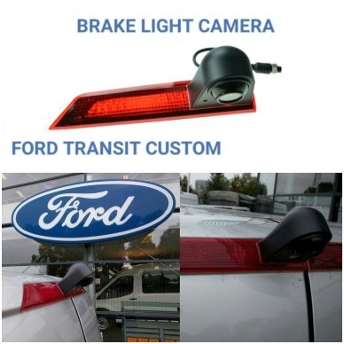 Ford Transit galinio vaizdo kamera integruota stabdžio žibinte 13