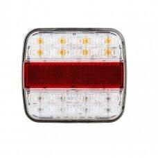 Galinis LED žibintas 4 funkcijų 12-24V prisukamas 105x95x29